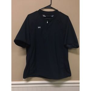 UNDER ARMOUR  Black SHORT SLEEVE PULLOVER Large
